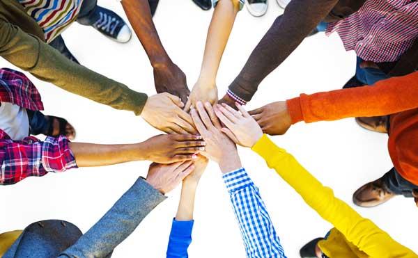 Diverse Hands Meeting